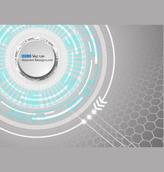 Abstract white circles background vector