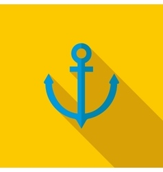 Anchor icon flat style vector image