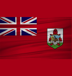 Bermuda flag bermuda flag blowig in the wind eps vector