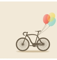 bike with balloons vector image