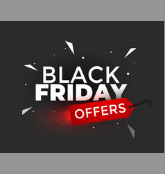 black friday offers creative banner design vector image
