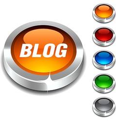 Blog 3d button vector