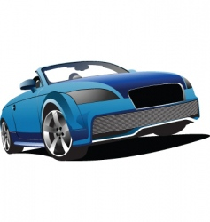 Blue cabriolet vector