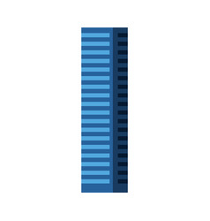 blue tall building vector image