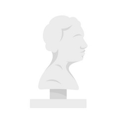 bust ancient writer icon flat style vector image