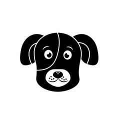 cartoon dog head pet animal icon vector image