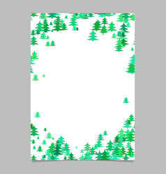 Christmas chaotic pine tree flyer template vector