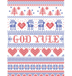 christmas pattern god yule vector image