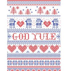 Christmas pattern god yule vector