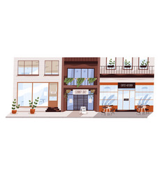 city cafe during lockdown bankruptcy small vector image