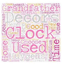 Clocks As Home Decors text background wordcloud vector