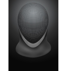 Dark Background of fencing helmet vector image