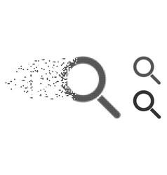 Dissolving pixel halftone locate icon vector