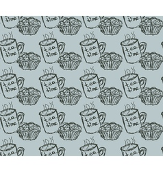 eat meal breakfast set seamless pattern vector image