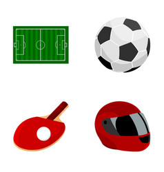 field stadium with markings for playing football vector image