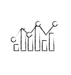 figure statistics bar diagram data graph data vector image