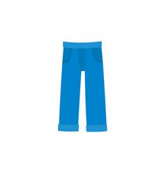 flat denim jeans icon vector image