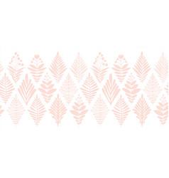 Floral border seamless subtle pink on white vector