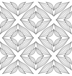floral line art tracery elegance seamless pattern vector image