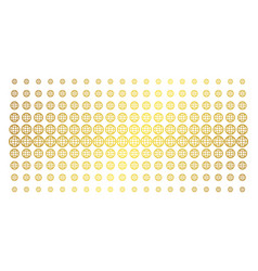 globe golden halftone effect vector image