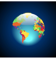 Globe with multicolored countries vector image