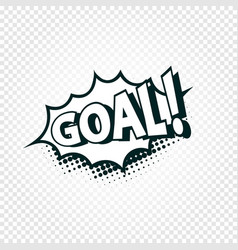 goal icon comics cloud with halftone shadow vector image