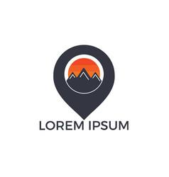 gps mountain logo design vector image