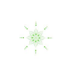 green mandala flower ornament vector image