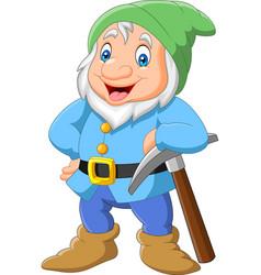Happy dwarf miner vector