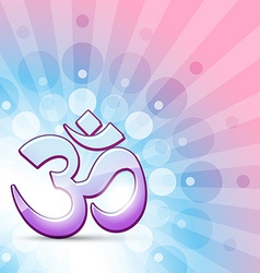 hindu om symbol vector image