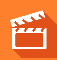 Icon cinema with a long shadow vector