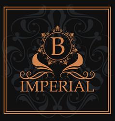 Imperial gold letter b elegant emblem vector