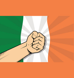 ireland europe country fight protest symbol with vector image