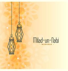 Islamic eid milad un nabi festival card design vector