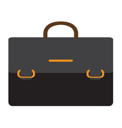 isolated business suitcase icon vector image