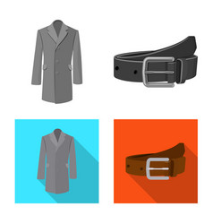 Isolated object man and clothing logo vector