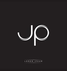 Jp initial letter split lowercase logo modern vector