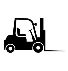 loader black icon heavy equipment machine symbol vector image