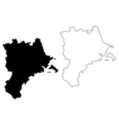 Lucerne map vector