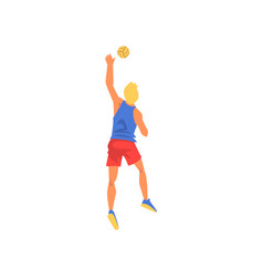 Male volleyball player with ball professional vector