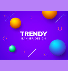 motion gradient or liquid graphic banner vector image
