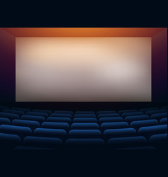 Movie cinema hall theater with projection wall vector