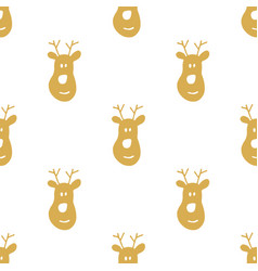 new year and christmas seamless pattern hand vector image