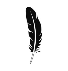 nib feather icon simple style vector image