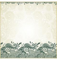 ornamental stripes in floral background vector image