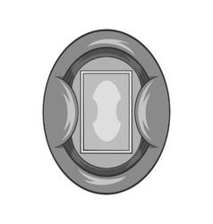 Oval football stadium icon black monochrome style vector