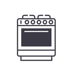 oven sign line icon sign on vector image