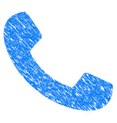 phone receiver grunge icon vector image