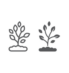 plant line and glyph icon farming and agriculture vector image