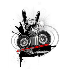 poster on a theme of rock music in a grunge style vector image